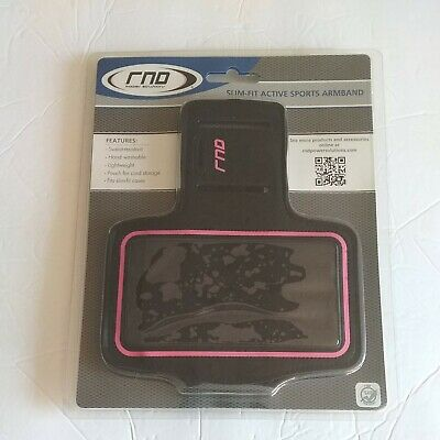 RNO Slim-Fit Active Sports Arm Band NEW PinkBlack