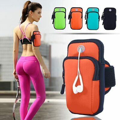 Sports Armband Phone Holder Key Card Arm Band Bag Pouch Running Jogging Cycling