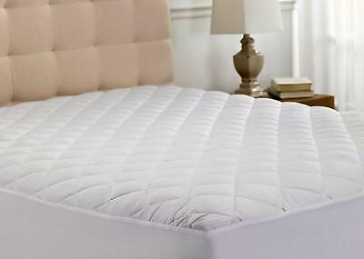 Queen Size US Quilted Mattress Cover Protector Bedding Extra Deep Fitted Sheet