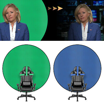 USA 57-inch Diameter Backdrop Double-sided GreenBlue Portable Screen Background