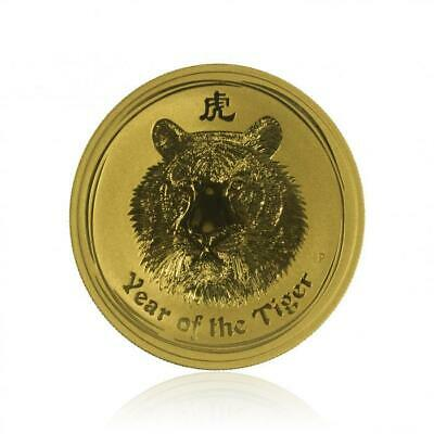 2010 Australia Perth Mint 1 Oz Lunar Year of the Tiger .9999 Pure Gold Coin