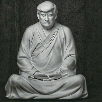 New Buddha Statue Of Trump Make Your Company Great Again Resin Office Ornament