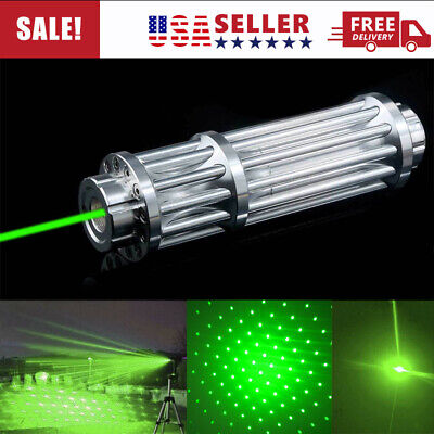 1000Miles 532nm Green Laser Pointer Pen Visible Beam Light Zoom Focus Lazer USA