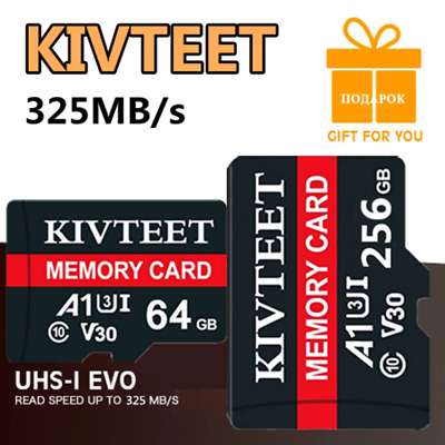 2021 New Micro SD Card 64GB 128GB 256GB TF Card 325MBs Class 10 for Smartphones