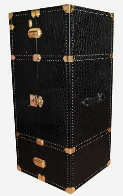 TERRIDA Royal Clothes Case Garment Bag Suitcase Travel Real Embossed Leather