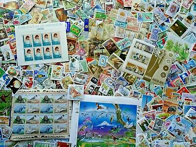 Worldwide Off Paper Unpicked 500 pcs World Stamps Mint - Used Collection Lot