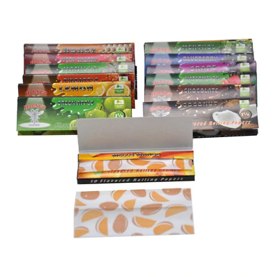 10 Packs  HORNET  1-25 Flavored Rolling Papers USA Seller