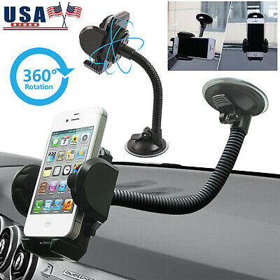 Universal Car Windshield Mount Holder Stand Cradle 360° Rotation for Cell Phone