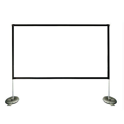 Projector Screen 100 inch Portable Projection Screen 169 4K HD with Stand