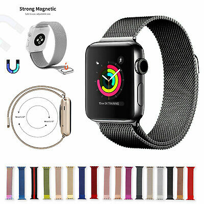 For Apple Watch Series 6 5 4 3 2 1 Milanese Loop Band iwatch Strap 38 40 42 44mm