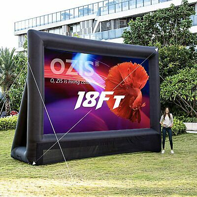 OZIS 18Ft Inflatable Outdoor Projector Movie Screen With 350W Blower