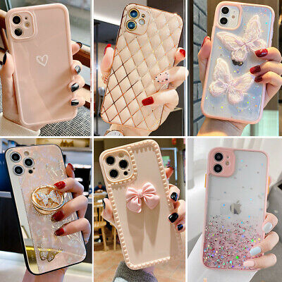 For iPhone 13 12 Pro Max 11 XR XS Max 8 Shockproof Girls Phone Case Cute Cover