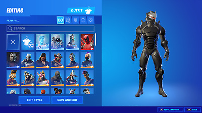 NEW FORTNlTE ACC 120- SKINS RARE ITEMS PCXBOXNINTENDO SWITCH COMPATIBLE