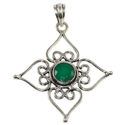 Emerald Quartz Gemstone Mothers Day Girlfriend Gifted Silver Jewelry Pendant 2