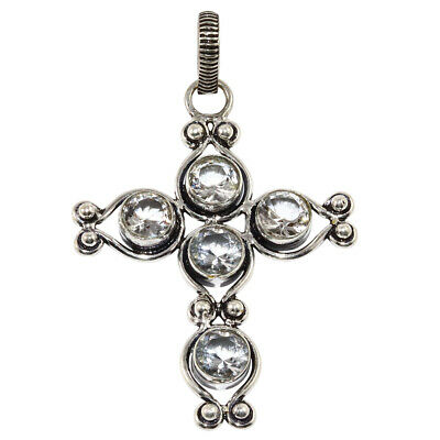 White Topaz Gemstone Mothers Day Girlfriend Gifted Silver Jewelry Pendant 2-5