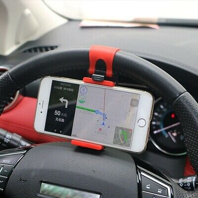 1× Car Interior GPS Phone Holder Mount Stand Steering Wheel Clip Accessories