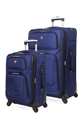 Swissgear 6283 Expandable 2pc Spinner Luggage Set - Blue