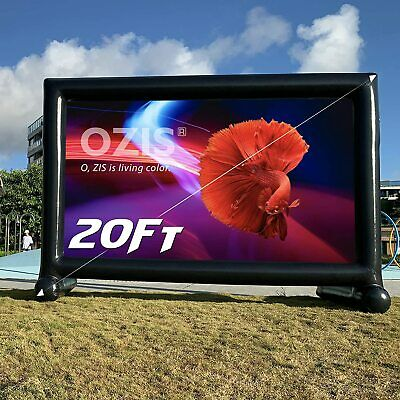 OZIS 20Ft Inflatable Movie Screen Outdoor - Made of PVC Airtight Waterproof