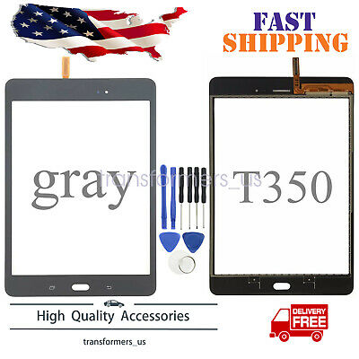 Gray Touch Screen Digitizer Glass Replace For Samsung Galaxy Tab A 8-0 SM-T350