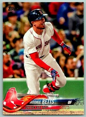 2018 Topps Mookie Betts Boston Red Sox 140