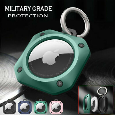 For Apple AirTag Armor Hybrid Protective Case Cover Tracker Keychain For Air Tag