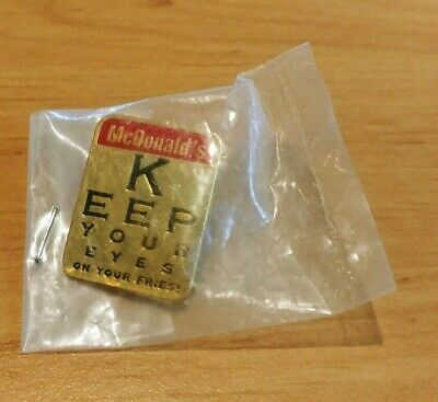 Mcdonalds Pin - Keep your eyes on your Fries !