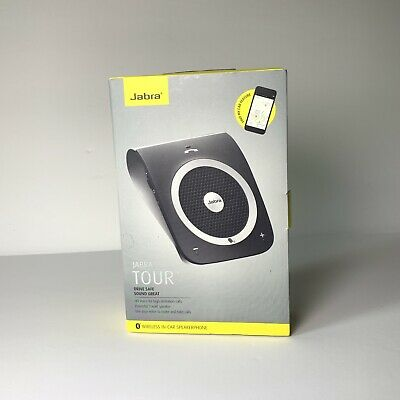 Jabra Tour Bluetooth In-Car Speaker for Music and Calls Black NEW