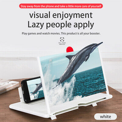 12 inch 3D Mobile Phone Screen Magnifier HD Video Amplifier Folding Phone Stand