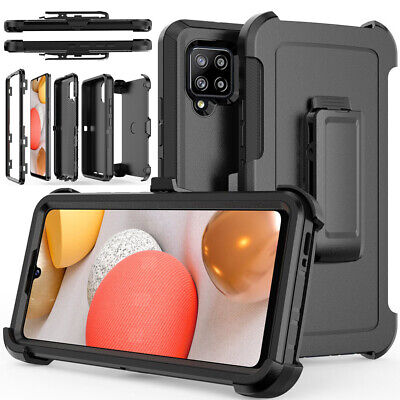 For Samsung Galaxy A42 5G Case Heavy Duty Shockproof Cover - Belt Clip Holster