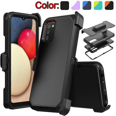 For Samsung Galaxy A02S CaseShockproof Holster Belt Clip Heavy Duty Armor Cover