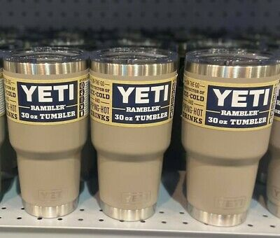 AUTHENTIC YETI Rambler 30 oz Tumbler with Magslider Lid Sharptail Taupe