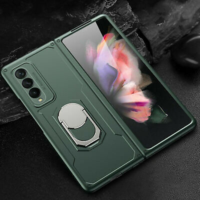 For Samsung Galaxy Z Fold 3  Fold 2 5G Shockproof Rugged Ring Stand Case Cover