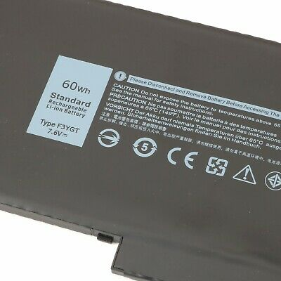 F3YGT Laptop Battery for Dell Latitude 12 13 14 7000 7280 7290 7390 7480 60Wh