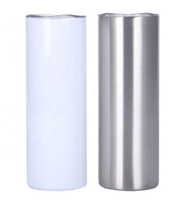 Stainless steel glass white blank sublimation glass