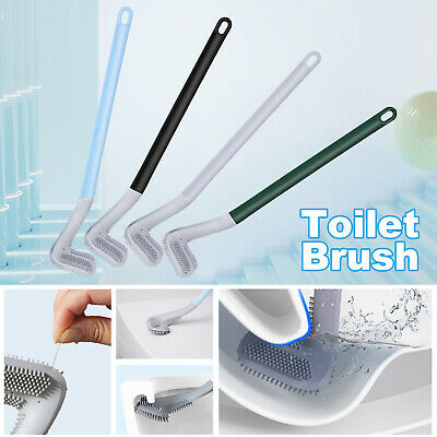 Long Handled Golf Head Toilet Brush Set Wall-Mounted Bathroom Cleaner Scrubber
