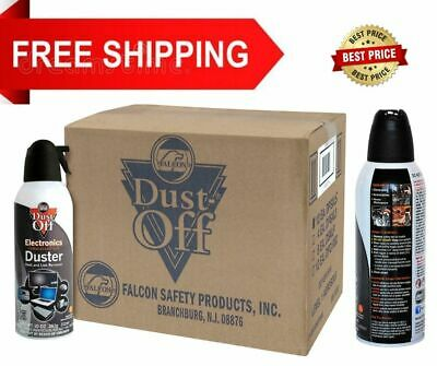 New Canned Air Falcon Dust-Off Compressed Computer Gas Duster 10 oz 12 Pack