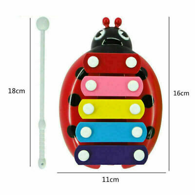 100X 5-Note Beetle Xylophone Musical Toys Baby Child Girls Development Tool US