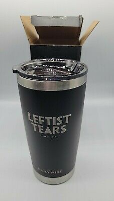 Leftist Tears 20oz Tumbler Ben Shapiro Candace Owens Daily Wire BRAND NEW IN BOX