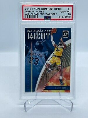 2018-19 Optic Lebron James ALL CLEAR FOR TAKEOFF Card GRADED PSA 10 GEM MINT