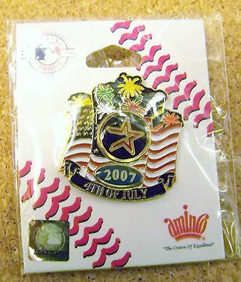 2007 Houston Astros 4th Fourth of July lapel  pin