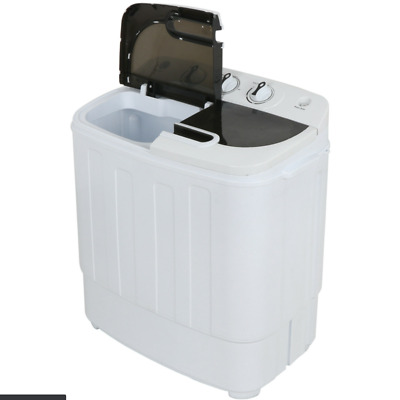 Compact Portable Washer - Dryer with Mini Washing Machine and Spin Dryer White
