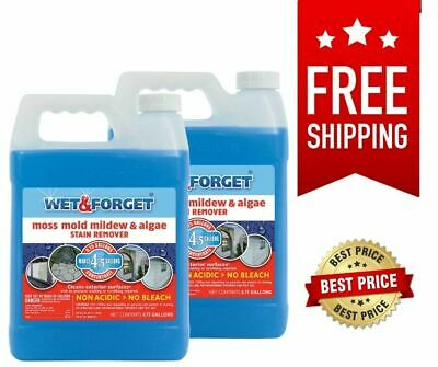 Wet - Forget Moss Mold Mildew - Algae Stain Remover - -75 gal - 2 pk-