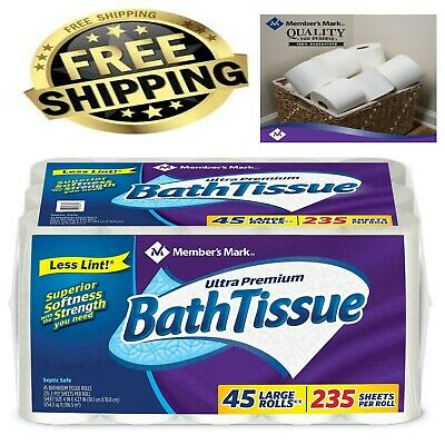 Members Mark Ultra Premium Soft and Strong Bath Tissue 2-Ply Large Roll Toilet