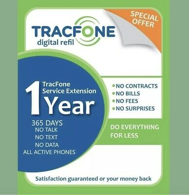 TracFone Service Extension 1 Year  365 Days