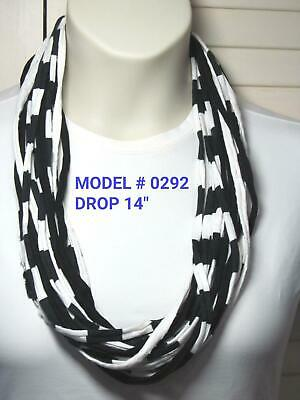 Unique Gift T-Shirt Yarn Infinity Scarf Fabric Necklace 0292