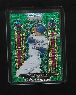 2021 Prizm MOOKIE BETTS Stained Glass Green Donut Circles Prizm - LA DODGERS