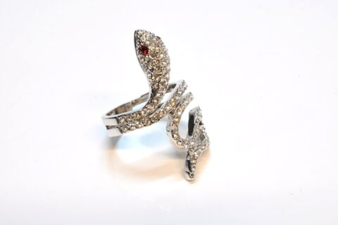 BLING JEWELRY TWISTED SNAKE RING SIMULIERTEN GRANAT CRYSTAL 18 AL7286 324