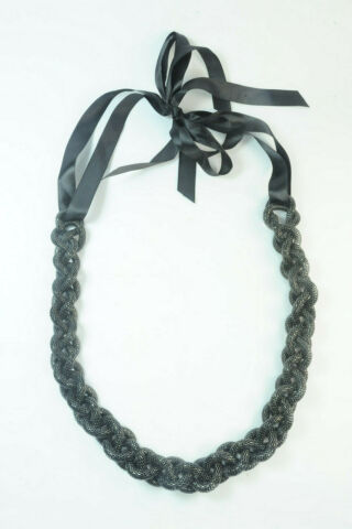 BEAUTIFUL SIMPLE ELEGANT TWISTED CHAIN TUBES LONG STATEMENT NECKLACE ST142