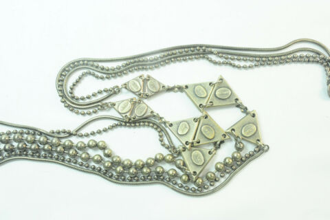 EVERYDAY WEAR LONG LADIES MULTISTRAND NECKLACE WITH TRIANGLES DETAILS ST142
