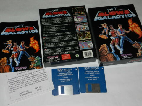 BODY BLOWS GALACTIC COMMODORE AMIGA A1200 A4000 VERSION OVP GETESTET